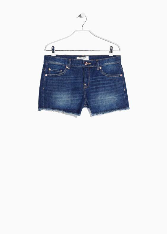 Donkere denim shorts
