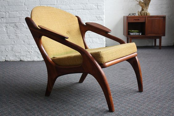 Adrian Pearsall Mid Century Modern Lounge Chair 2249-C (U.S.A., 1960s)
