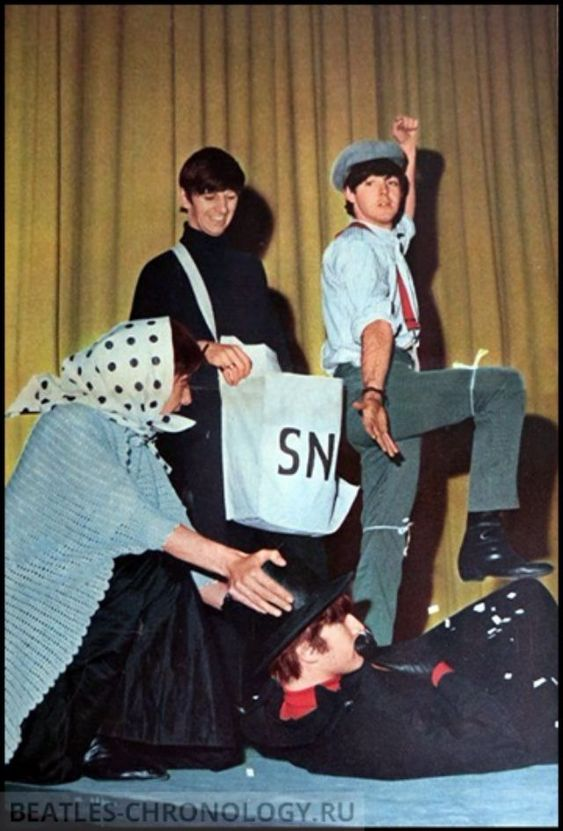 Rare and Funny Candid Photographs from The Beatles Christmas Shows in December 1963 and Early 1964
