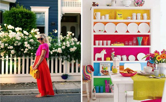 Bright outfit = fun dining room