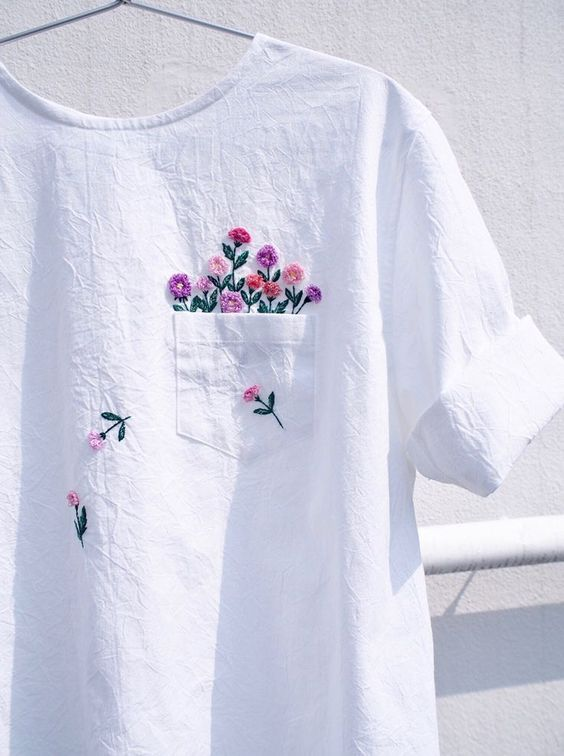 Embroidered clothing by Juno Embroidery. #fashion #DIY_fashion #DIY_crafts