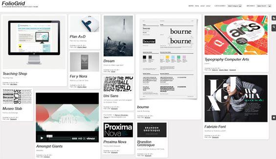 impressive fluid portfolio style premium WordPress theme from FrogsThemes.