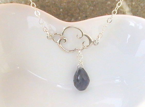 Hey, I found this really awesome Etsy listing at https://www.etsy.com/listing/186001467/rain-cloud-iolite-necklace-blue-sapphire