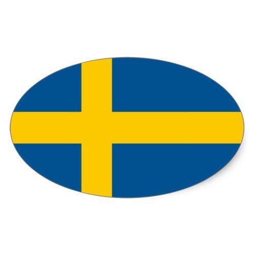 Swedish Flag Oval Car Sticker Flag Of Sweden Zazzle Com Sticker Flag Sweden Flag Swedish Flag
