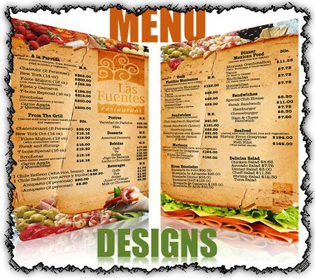 Restaurant menu cards design images Design Pinterest Menu - sample cafe menu template