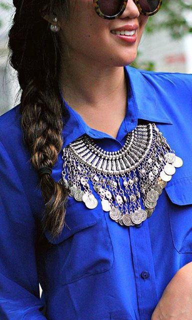 Mystery Ancient Coins Bib Necklace 29,90 € #happinessbtq