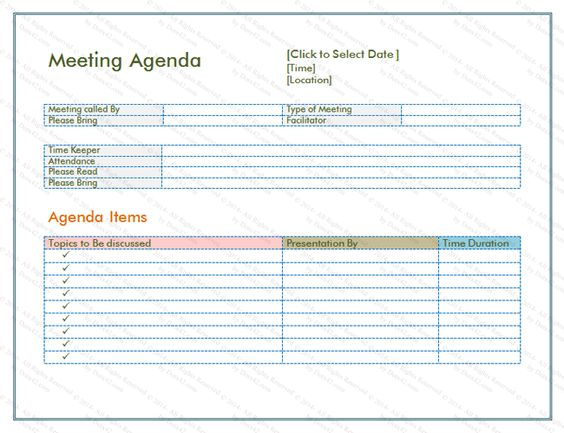Basic Meeting Agenda Template V10 AGENDAS Pinterest   Meeting Note Taking  Template  Meeting Note Taking Template