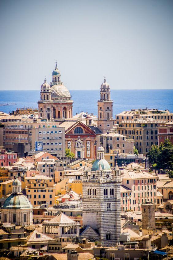 Genova, Colorful mediterran city by the sea - Italy