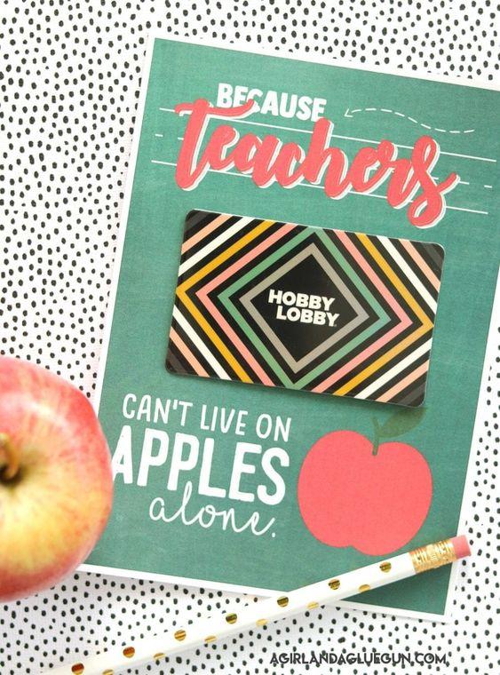 teacher gift card printable - A girl and a glue gun #teacher #freeprintables