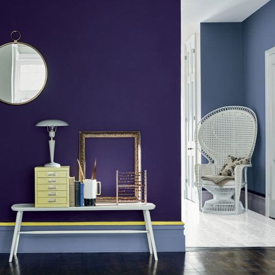 Un couloir couleur saphir, Little Greene