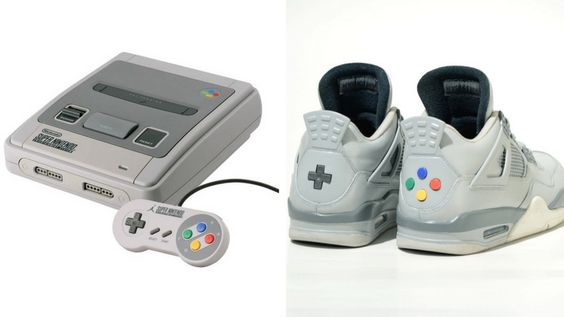 These Super Nintendo sneakers will take you right back to your retro childhood. It's like someone took an actual Super Nintendo and rebuilt it into a shoe.