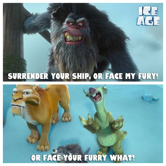 Captain Gutt's fur is pretty intimidating though.