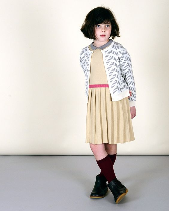 Girl's Pleated Maxwell Sweater Dress | Olive Juice SP15 Collection