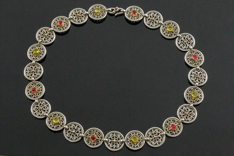 Konstantino Pink Tourmaline and Peridot Necklace