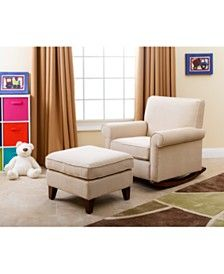 Indie Fabric Rocker and Ottoman, Direct Ship