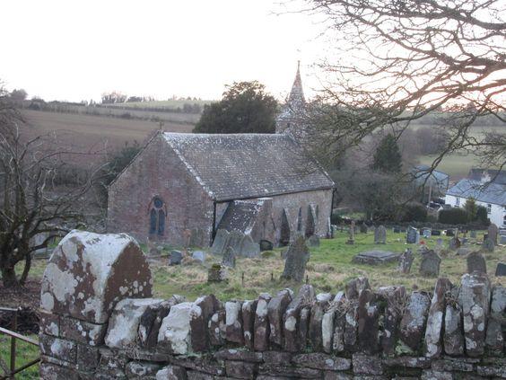 the church and yard, Welsh Newton