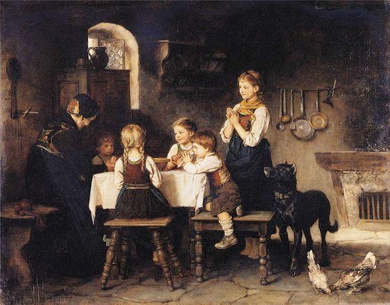 Franz von Defregger - Grace Before Meal.