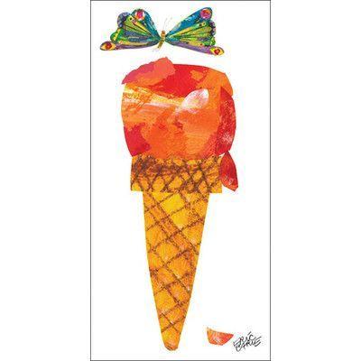Oopsy Daisy Eric Carle's Ice Cream Cone Canvas Art