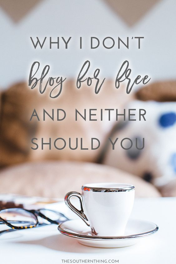 Why I Don't Blog for Free