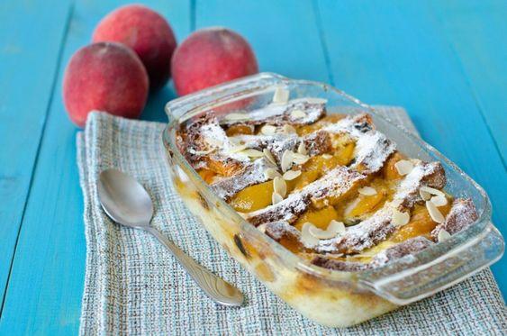 Pfirsich-Brot-Pudding