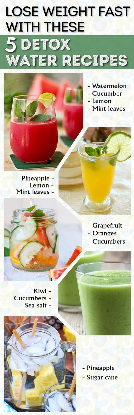 Lose Weight Fast With These 5 Detox Water Recipes