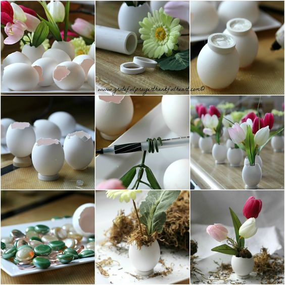With a Grateful Prayer and a Thankful Heart: Springtime ~ Easter Flowers in Eggshell Pots: