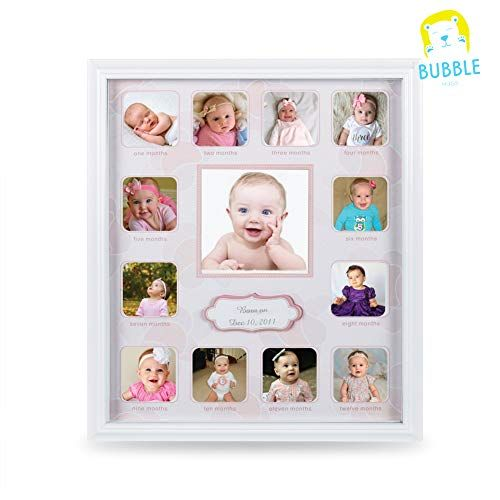 Collage Photo Frame For Baby First Year Keepsake Multi Picture Frames With Twelve 1 8 Rdquo And One 3 7 Rd Multi Picture Multi Picture Frames Picture Frames