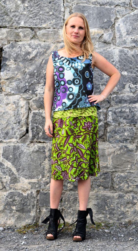 Leafy Green -Line Skirt by Maeve Ayo by REasonIreland on Etsy ...