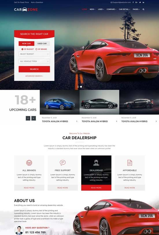 70 Best Car Auto Website Templates Free Premium Freshdesignweb Medical Website Design Corporate Web Design Car