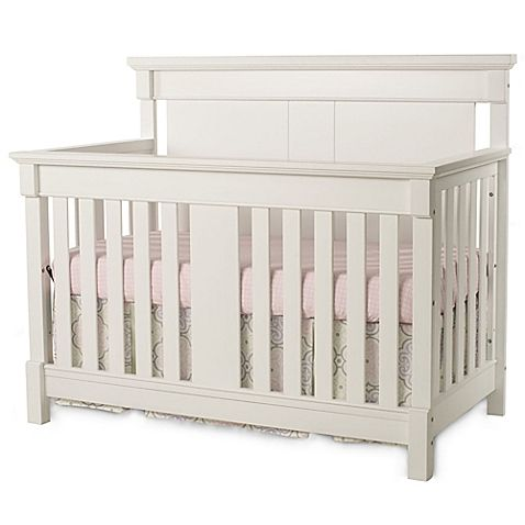 Child Craft's Ellicott 4-in-1 Convertible Crib mixes classic and contemporary elements. Its sleek lines complement an on-trend finish. The design converts from a crib to a toddler bed with a safety rail, a toddler daybed without rail, and a twin bed.
