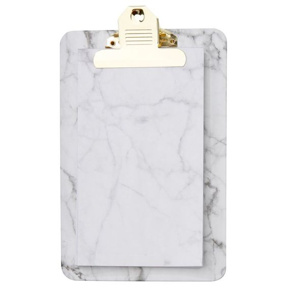 Clipboard Notepad — Marble, White by Indigo | Office Stationery Gifts | chapters.indigo.ca