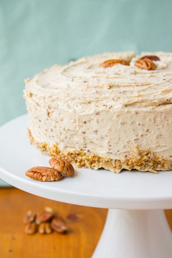 Cinnamon-Cardamom Cake with Maple Pecan Frosting | Recipe | Pecans ...