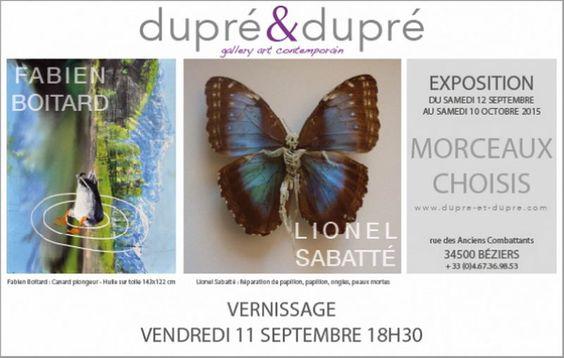 Exposition Lionel Sabatté et Fabien Boitard à la Galerie Dupré & Dupré