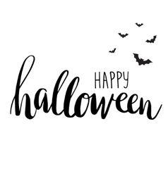Happy Halloween Lettering Card Vector Image On Vectorstock Halloween Calligraphy Happy Halloween Font Happy Halloween
