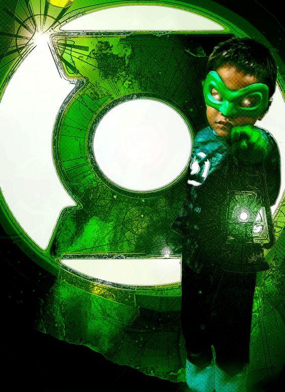 Green Lantern Photomanipulation - Child's Halloween costume