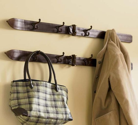 Not a lot of luck finding old skis in Texas but I used to see them all the time in thrift stores up north.  Creative Coat Racks & Hooks