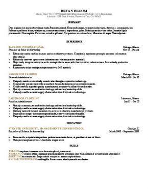 Resume Format Template Job