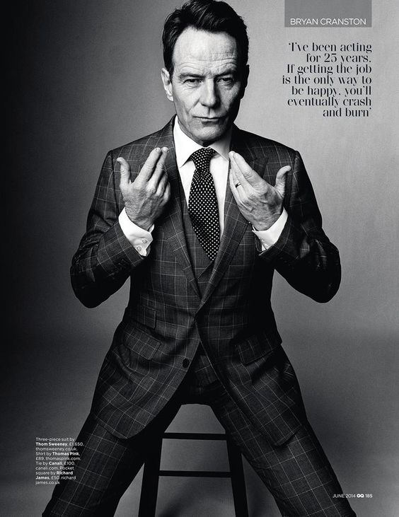 Bryan Cranston's Monsters for British GQ (Various Editorials).  June 2014.   Norman Jean Roy - Photographer.   Rheanne White - Hair Stylist.