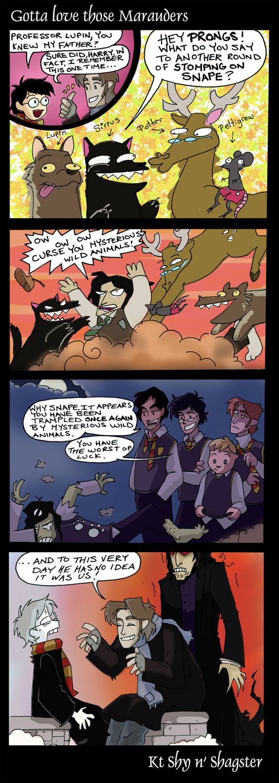 Lupin wouldn't be this happy about the incident, but still funny!
