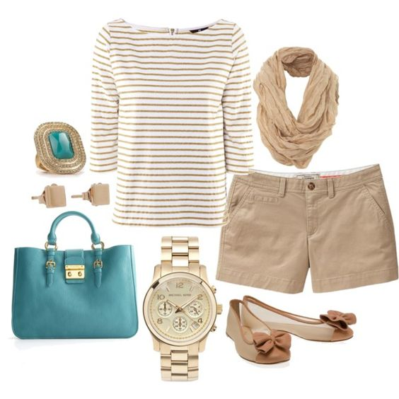 Neutral with a pop of turquoise. This is so cute. Love it! :)