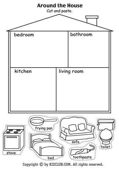 Around The House Activity School Worksheets English Worksheets For Kids Worksheets For Kids What to teach my preschooler at home