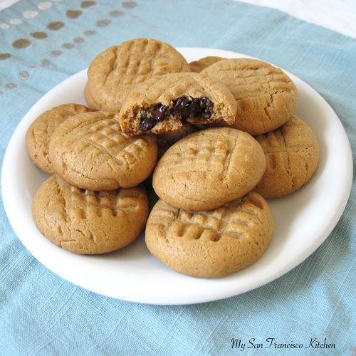 Peanut Butter Cookies ( stuffed with chocolate)