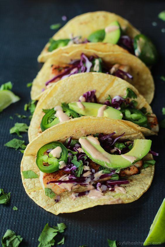 Grilled Mahi Mahi Fish Tacos with Chipotle Lime Crema | Recipe | Tacos ...