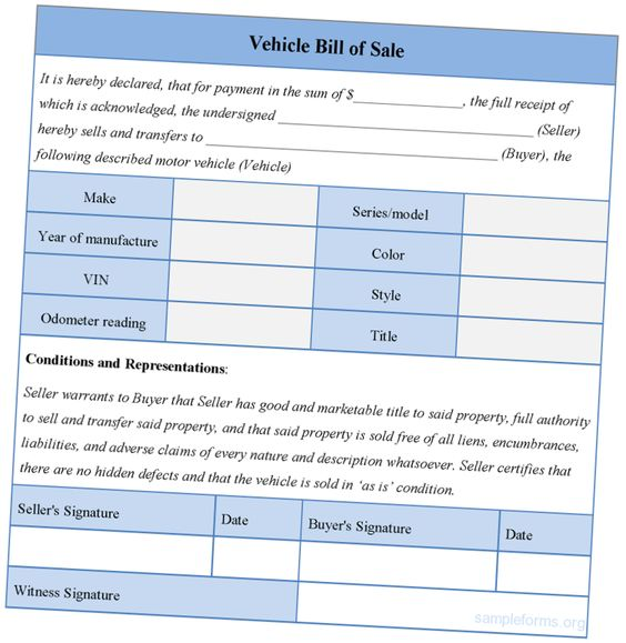 Online Creating Template Bill Of Sale Template For Car Bill Of - dmv bill of sale