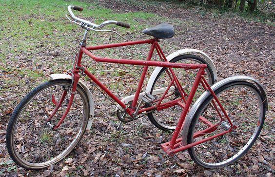 »1956 Raleigh Prototype oficina de correos Triciclo El Bicycle Museum Online
