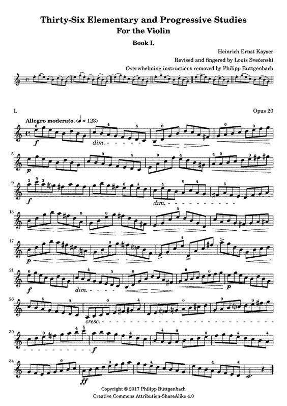 36 Violin Studies Op 20 Kayser Heinrich Ernst Imslp Jazz Sheet Music Violin Lessons Violin Sheet Music