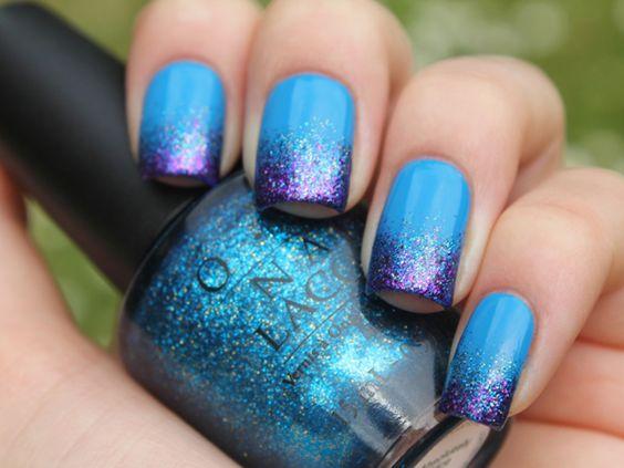 Clube das Esmaltadas » Blog Archive Inspirações de domingo - Gradient Nails » Clube das Esmaltadas