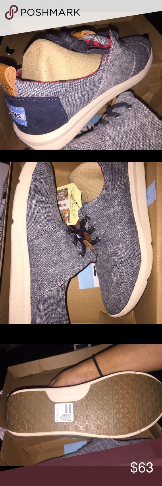 TOMS Del Rey Size 6. Fit a little tight but with wear they stretch out just like most TOMS. (Last pic is from Nordstrom) taking offers :) TOMS Shoes Athletic Shoes