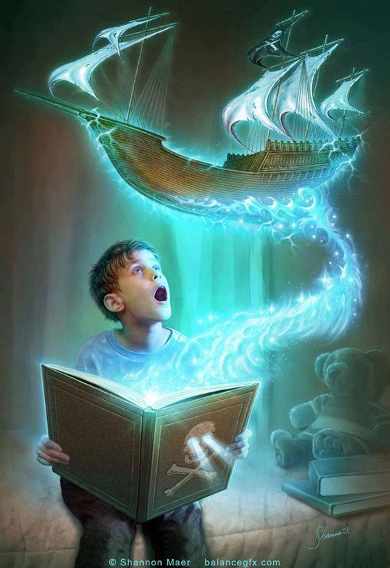 Books make your imagination come to life~:
