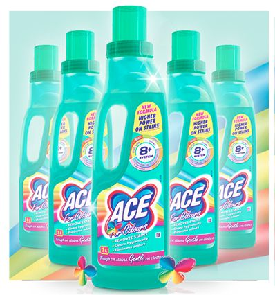 Pick up a bottle of ACE from your local supermarket and let your clothes shine!  http://acecleanuk.com/